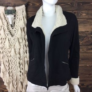 Soft Surroundings | Sherpa Lined Open Cardigan